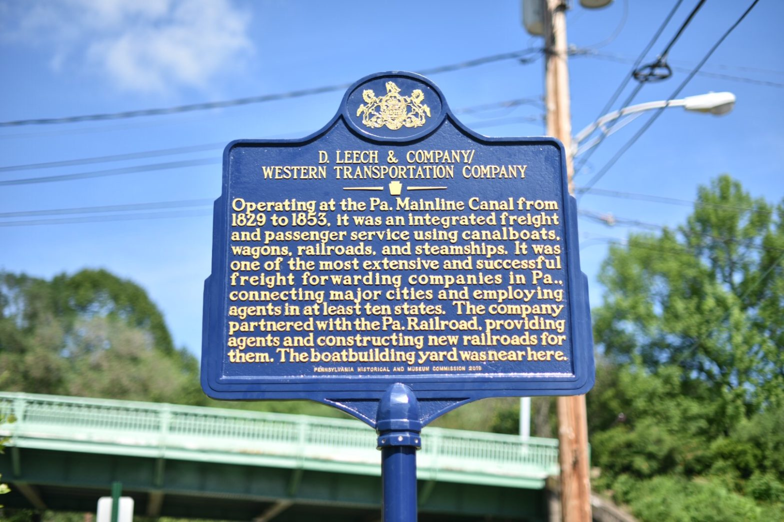 D. Leech and Company Historical Marker